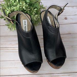 Steve Madden Wedge warrick studded clog leather 7